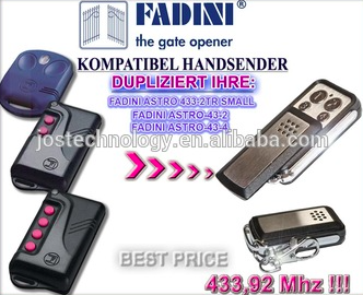 For FADINI remote ASTRO 433-2TR SMALL, ASTRO-43-2,ASTRO-43-4 replacement remote astro city vol 14