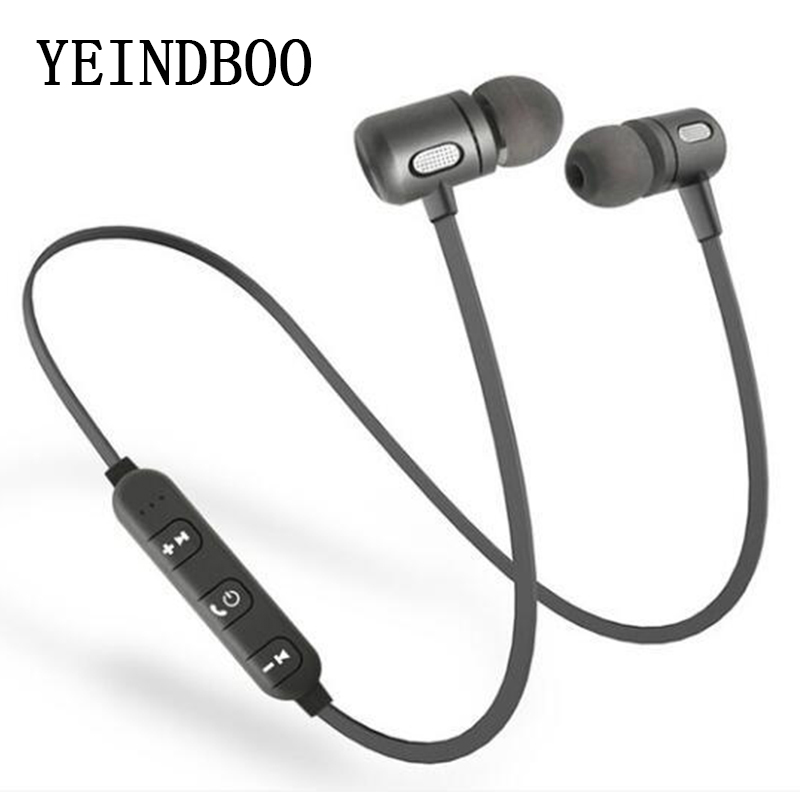 все цены на YEINDBOO Bass Bluetooth Earphone Wireless Earphones With Mic Magnetic in ear Bluetooth Earbuds Headset For Mobile Phone Sports