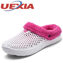 Winter Slippers Home Slippers Women Indoor Plush Warm Shoes Comfortable Clogs Pantufa Household Ciabatte Mujers Two Wear Style