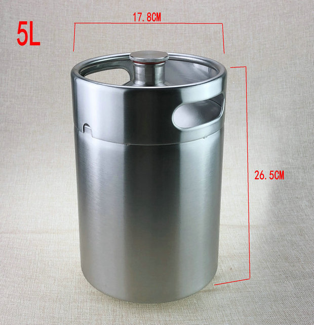5L Homebrew Growler Mini Keg Stainless Steel Keg Style Beer Growler mini beer keg