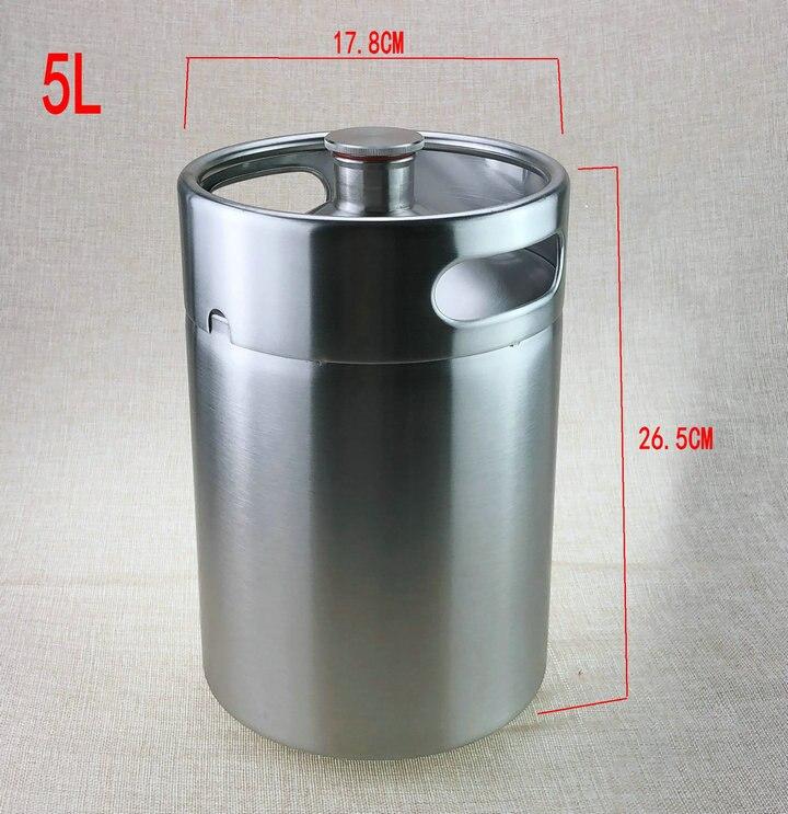 5L Homebrew Growler Mini Keg Stainless Steel Keg Style Beer Growler mini beer keg