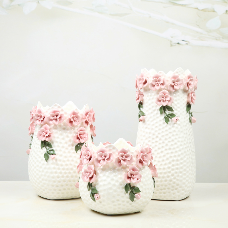 White European style living room decoration ceramic vase Home Furnishing wedding gift floral arrangement