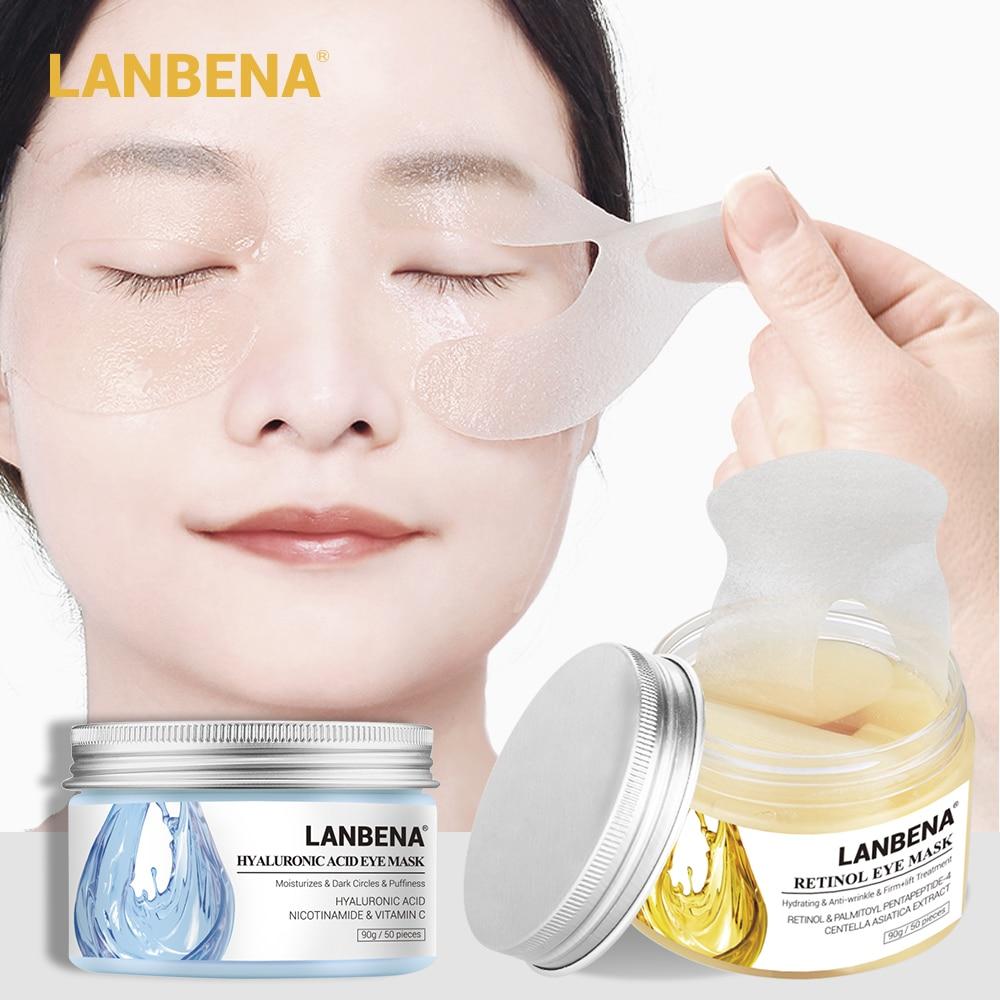 Lanbena Eye Patches Eye Mask Vitamina C Eye Pads Reduces Dark Circles Bags Eye Lines Repair Nourish Firming Serum Face Skin Care
