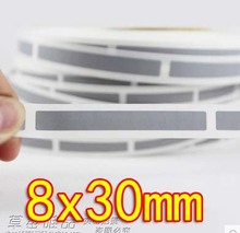 Freeshipping 8x30MM - Sliver Gray Scratch coating film scratch card stickers-1000pcs /roll