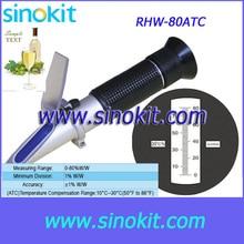 Вино 0-80% WW Ручной рефрактометр-RHW-80ATC