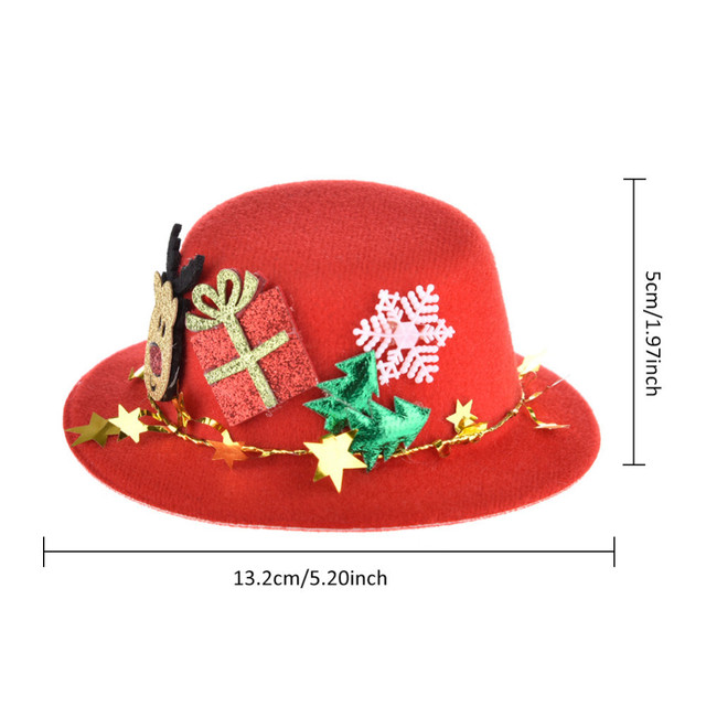 christmas pet hat wool felt top hat pet party festival accessory pet cat dog and other
