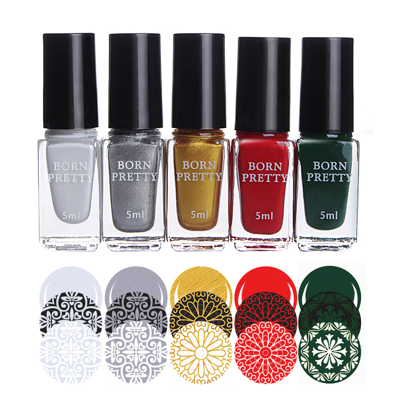 Nail Stamping Polish Lacquer 5ml Gold Silver Red Colorful Stamping Printing Vanish Manicure for Nail Art