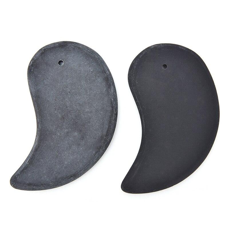 1 P/2 Stücke Schwarz Natürliche Stein Gua Sha Bord Guasha Gesunde Heilen Fuß Pflege Hand Körper Massage Werkzeug