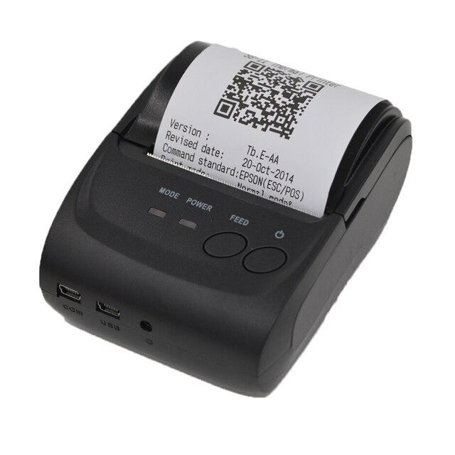 Термопринтер 58 мм Интерфейс USB POS Чековый Небольшой Билет Штрих-Код Принтер Билл Принтера Билет Машина для Android ОС Windows