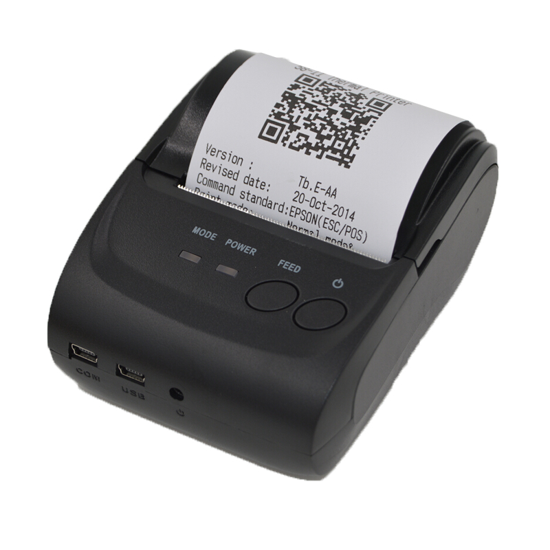 Thermal Receipt Printer 58mm USB Interface POS Small Ticket Barcode Printer Bill Printer Ticket Machine for Android Windows OS zj 8002 80mm bluetooth2 0 android pos receipt thermal printer bill machine for supermarket restaurant black color eu plug