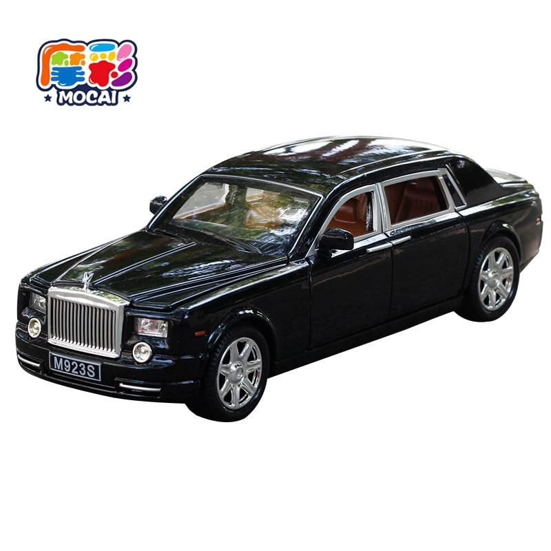 mocai bambini regalo 1:24 Rolls-Royce Phantom lega pressofuso ragazzi modello di auto tirare indietro auto elettronica con luce e suono giocattolo per bambini 060