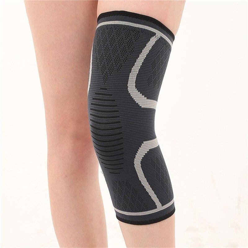 Running Cycling Kneepad Nylon Knitting Non-slip Warm Knee Sleeve Breathable Workout Four-way Elastic Fitness Kneepad 1PCS
