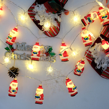 2M 20LED String Lights Santa Claus Shape Waterproof Battery LED Fairy Lights Christmas Decorative Lighting Indoor Outdoor Party