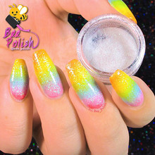 1 Box Holographic Glitter Powder 2g Shining Sugar Glitter Dust Powder Manicure Nail Art Decoration