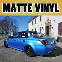 Pearl Blue Matte Vinyl Wrap Matte Pearl Blue Car Wrap Matte Pearl Blue Car Vinyl Film Air Free Car Wrapping Size:1.52M*30m/Roll