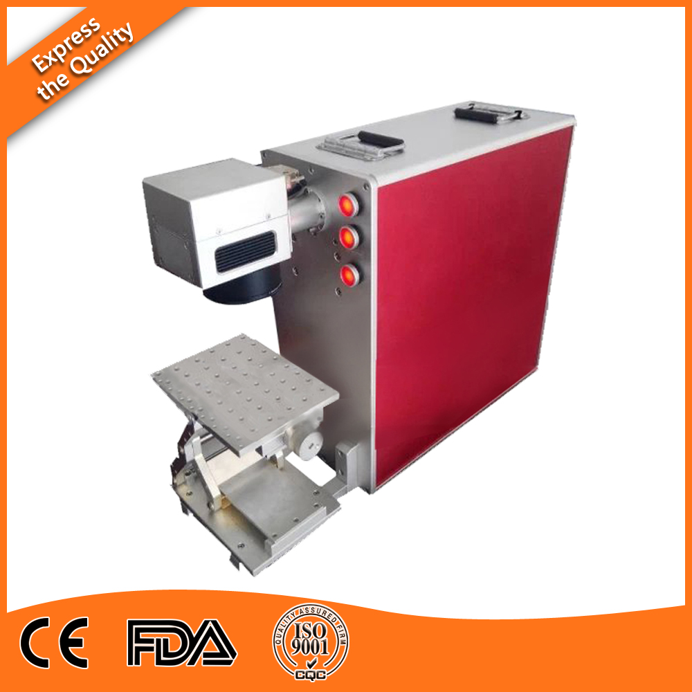 Low Weight, High Quality 20W 30W 50W Portable Fiber Laser Engraving Machine For Metal By DHL Express