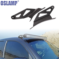 Oslamp 2pcs 52 Inch Curved LED Light Bar Upper Windshield Mounting Brackets Fit Ford F150 2004