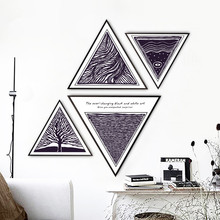 Nordic Black and white abstraction style restaurant decoration painting  home mural kitchen Hanging
