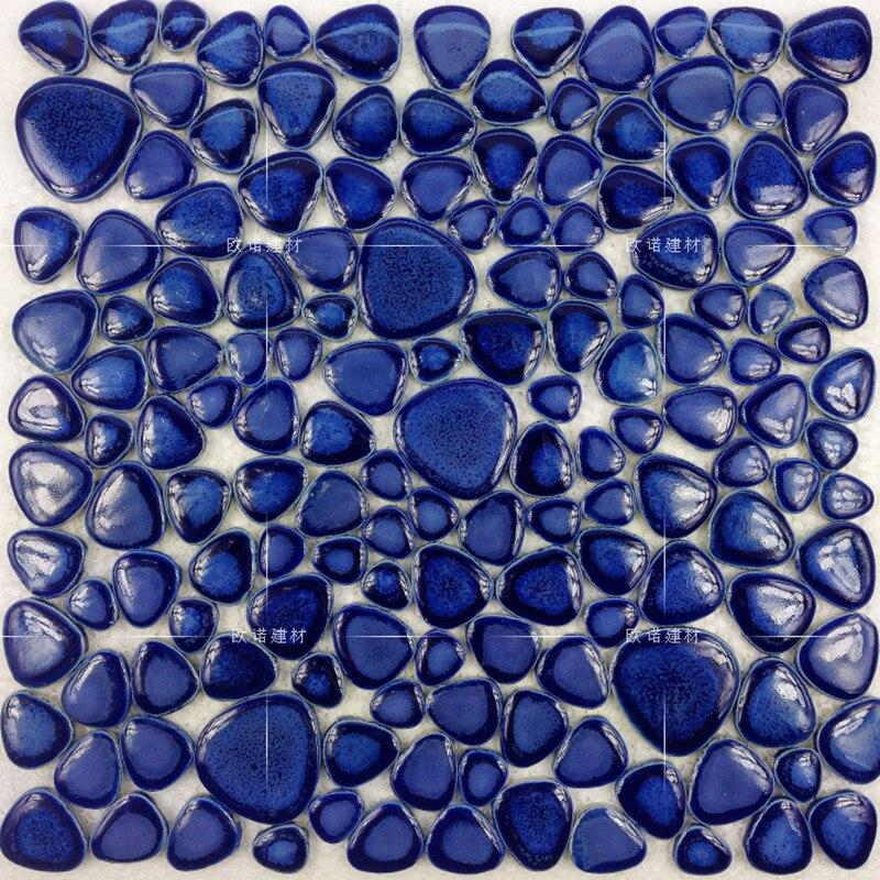 navy blue pebble glazed ceramic mosaic tile kitchen backsplash bathroom floor pool shower wall tiles fireplace tv backgroud