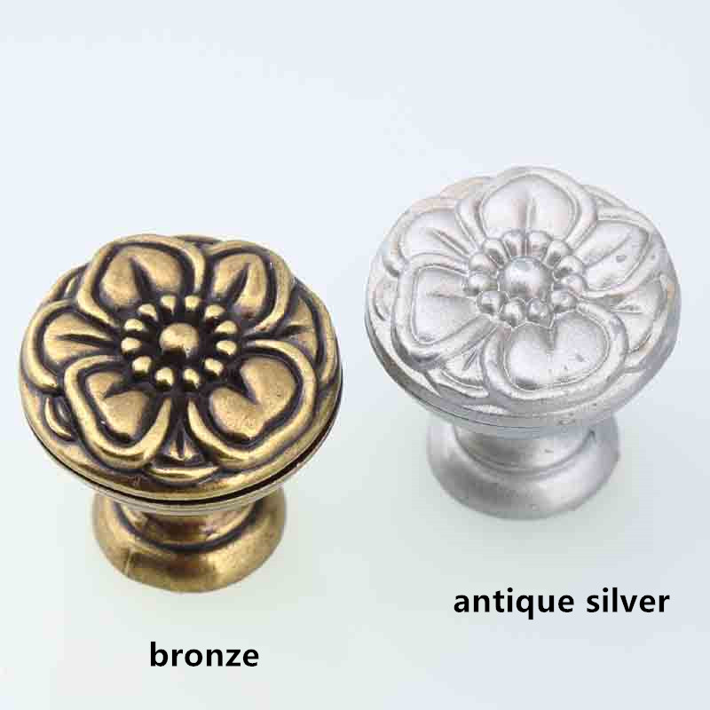 creative vintage bronze flower drawer cabinet knobs pull antique silver dresser door handle knob retro furniture decoration knob spoon black antique silver cabinet drawer pull vintage nickel fork dresser door handle retro creative tableware handle knife