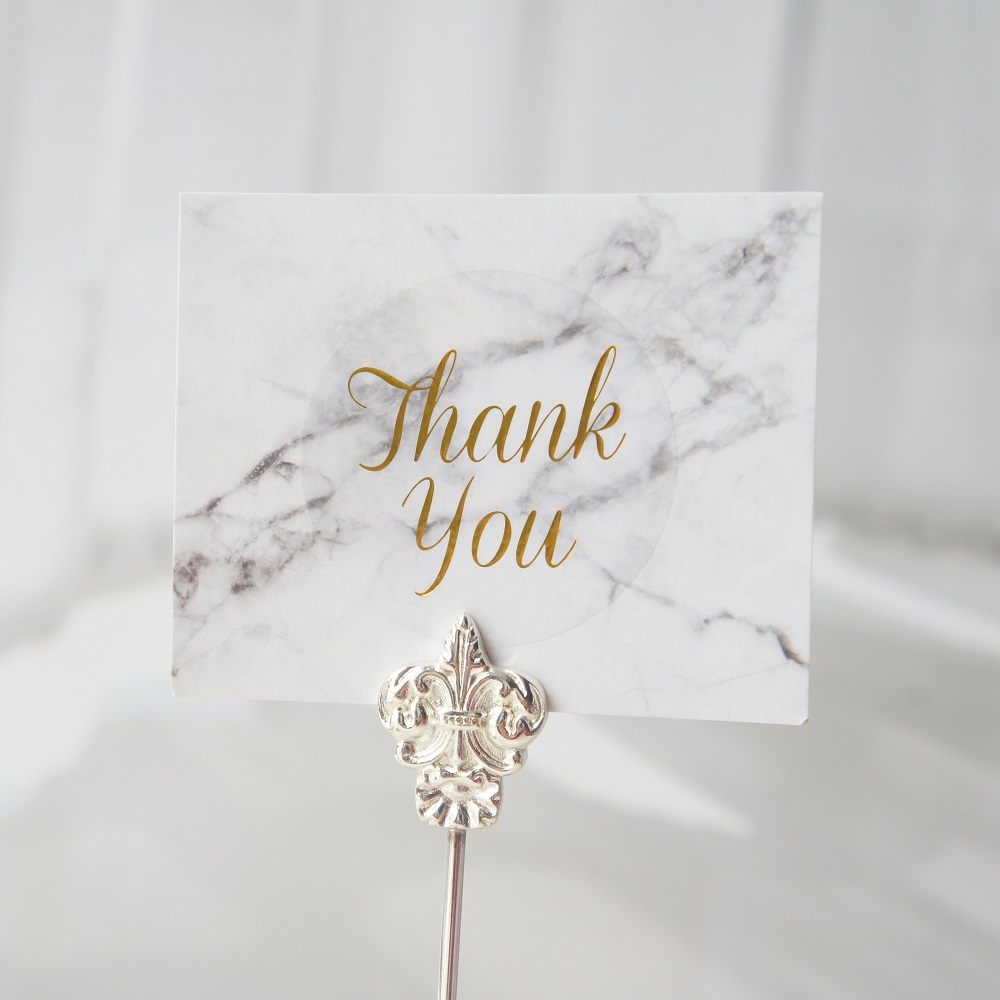 Multi use 50pcs mini thank you card gold simple fashion design multi use 50pcs mini marble diy card elegant style diy cards valentine christmas sticker need solutioingenieria Images