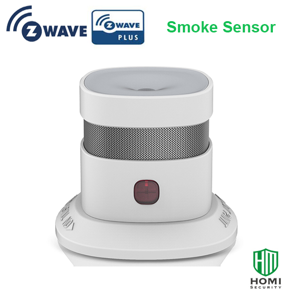 EN14604 Approved Z-wave Europe Version Small Nice Design Smoke Detector CR123 Battery Z-wave Smoke Fire Alarm Sensor