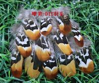 Free shipping! 100pcs DIY Earring/Brooch Accessories 10-15cm/4-6in Nature Yellow Color Pheasant Feathers