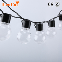 ECO Cat Novelty 20 LED G45 Globe Connectable Festoon Party Ball String Lamps Led Christmas Lights