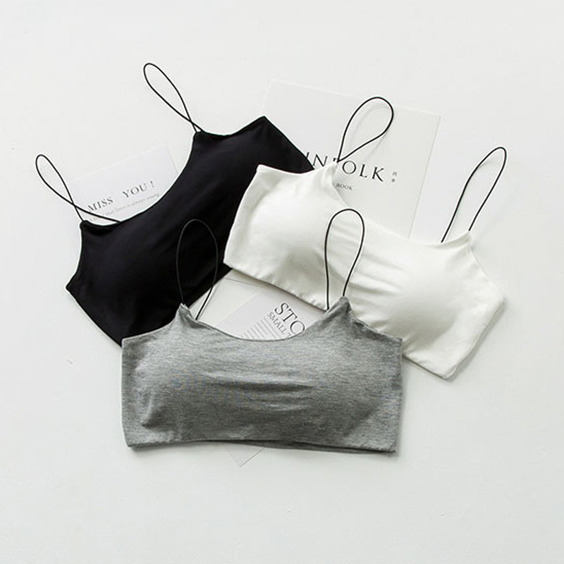 SP CITY Simple Deisgn Solid Cotton Soft Sexy Women Bra Tops Sexy Wire Free Seamless Bras
