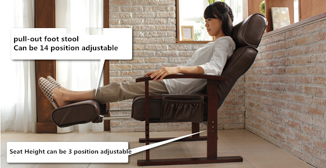 Aliexpress.com  Buy Height Adjustable Leather Reclining Chair Mechanism With Pull Out Stool Living Room Furniture Modern Recliner Armchair Elderly from ... & Aliexpress.com : Buy Height Adjustable Leather Reclining Chair ... islam-shia.org
