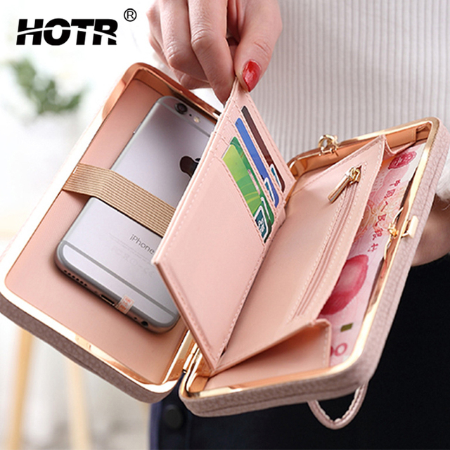 detailed look 3d466 06f81 US $11.99 29% OFF Luxury PU Leather Purse Women Wallet Case For iPhone X 8  7 6 plus 5s 5 Universal Full Protect Case Phone Money Bags Flip Cover-in ...