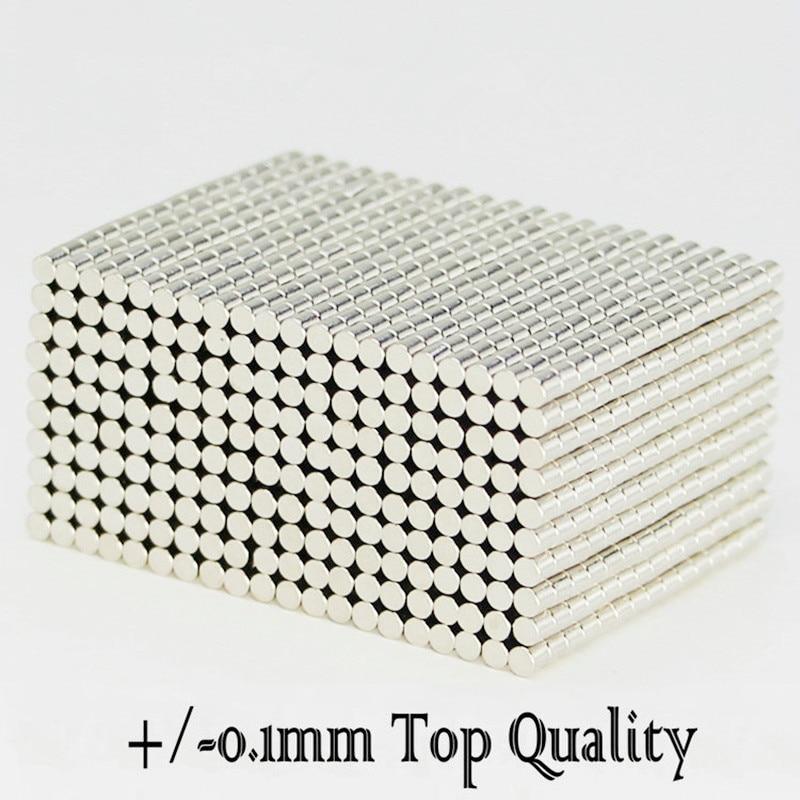 N42 NdFeB Micro Magnet Disc Diameter 2x2 mm Precision Magnetic Neodymium Cylinder Sensor Rare Earth Mini Magnets Stud