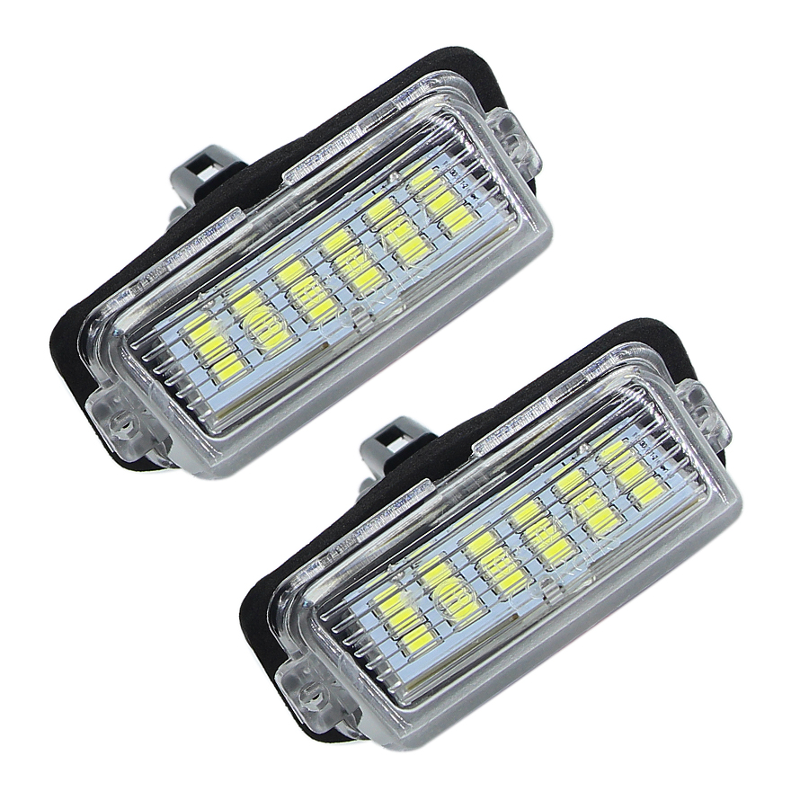 2Pcs CanBus No Error Led Car License Plate Lights For Toyota Corolla 5D/ Camry /Yaris /Prius /Vitz / Avensis Verso Number Lamp