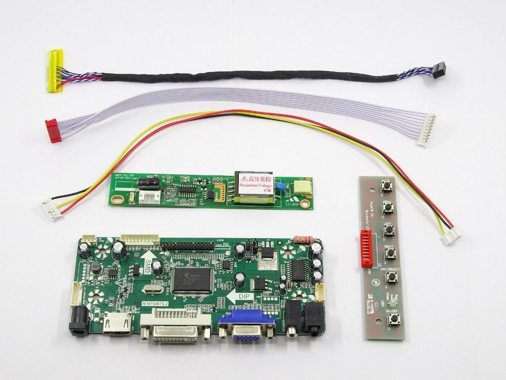 Latumab New  LCD LED Controller Driver Board Kit For LTN154AT09  LED LVDS (HDMI+DVI+VGA) Free Shipping