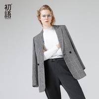 Toyouth Blazers 2017 Autumn Women Fashion Plaid Pattern Single Breasted All Match Ladies Blazer