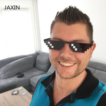 JAXIN Trend mosaic small box sunglasses men Thug Life Sunglasses  Women brand design global popular glasses UV400 okulary gafas