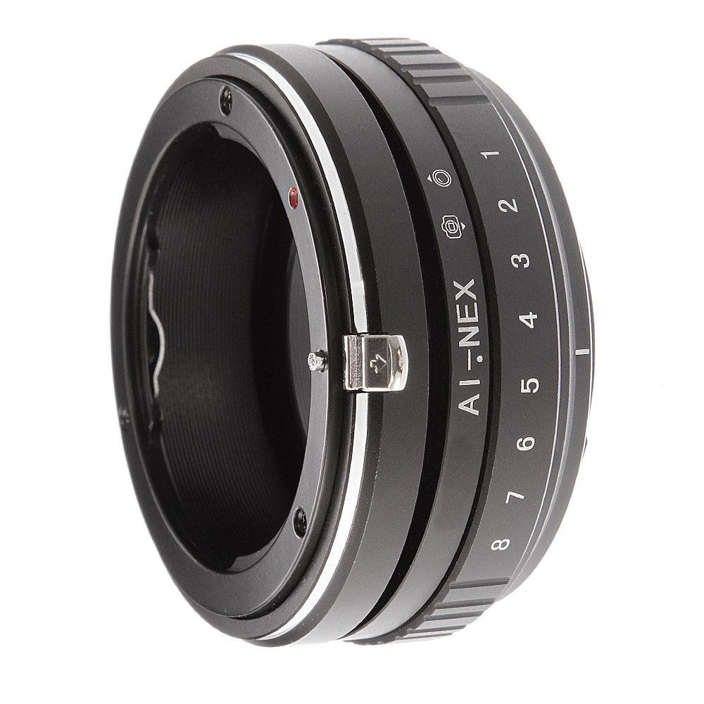 Tilt Shift Adapter Ring für Nikon AI F Objektiv Sony E Mount Kamera A7 R II A6500 A6000