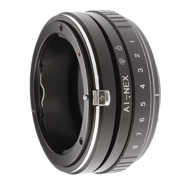 Tilt Shift Adapter Ring for Nikon AI F Lens to Sony E Mount Camera A7 R II A6500 A6000