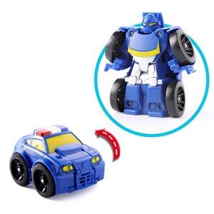 Image 5 - Cartoon Transformation Robot Action figur Spielzeug Mini Autos Roboter Klassische modell Spielzeug Für Kinder Geschenke Brinquedos