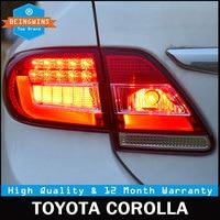 Автомобильный Стайлинг для Toyota Corolla 2011 2012 2013 Тайвань задние фонари светодиодный задний фонарь DRL + тормоз + сигнал авто аксессуары