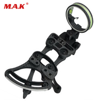 1 pins .019 Bow Sight with Micro Adjust Detachable Bracket, Sight Light for Compound Bow Archery Hunting