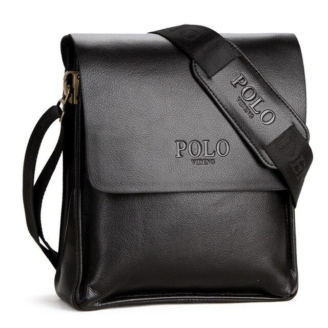 Fashion Brands Men S Handbags Pu Leather Messenger Shoulder Bag Male Business Bags Casual Tote Vintage Polo