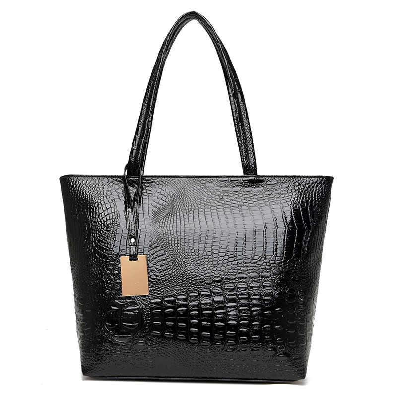 bfa534722509 ... Модный бренд Повседневное Для женщин сумки на плечо цвет серебристый,  Золотой Черный крокодил сумочку из ...