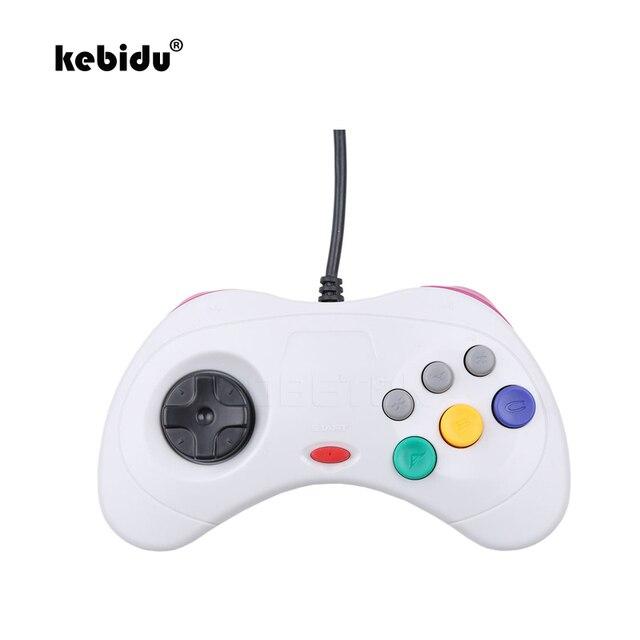 Kebidu Новый проводной геймпад USB, Классический игровой контроллер, геймпад для ПК, для системы Sega Saturn, стиль для ПК, горячая распродажа
