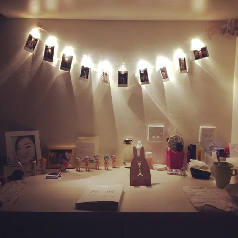 Holiday Lighting 1M 10LED 2M 20LED Card Photo Wall Clip Fairy LED String Light Home Christmas