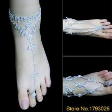 1PC Foot Jewelry Barefoot anklets Sandals Beach Dancing Wedding Ankle Bracelet Chain 4T94