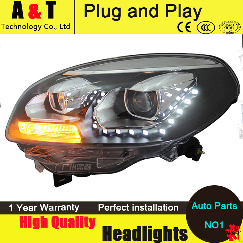 Car Styling LED Head Lamp for Renault Koleos headlight assembly 2012-2014 for koleos led headlight drl H7 with hid kit 2 pcs. car styling head lamp for bmw e84 x1 led headlight assembly 2009 2014 e84 led drl h7 with hid kit 2 pcs