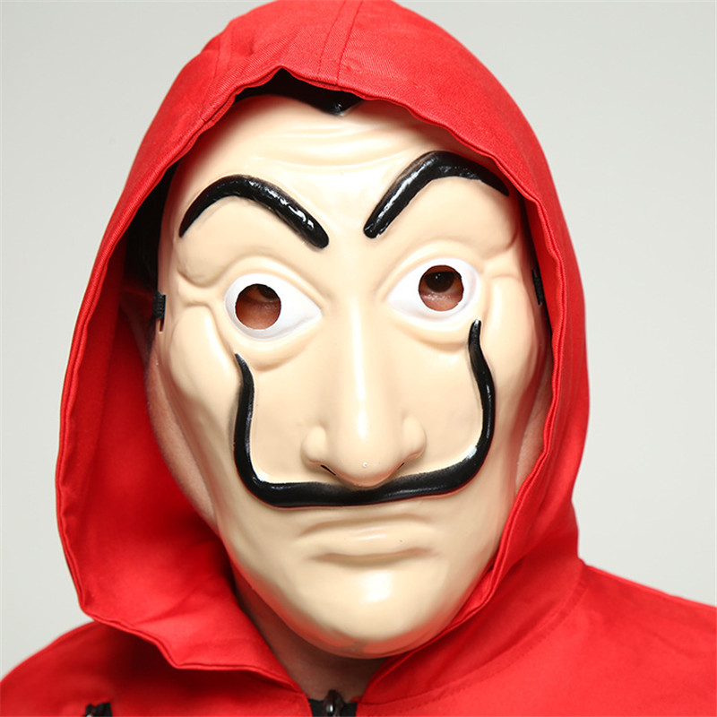 Salvador Dali Face Mask & Costume Movie La Casa De Papel Dali Mask The House of Paper Party Cosplay Halloween Mask Toy