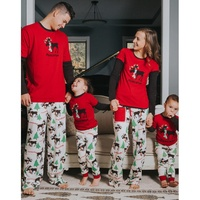 ZOGAA Family Christmas Pajamas Print Long Sleeve Parent child Suit Children Sleepwear Mom Dad Baby Set Mommy and Me Clothes