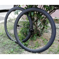 DECA AIR50 Carbon Road Bicycle Wheelset Clincher Tubeless Ready Rim JAVA BICYCLE AS511SB/FS522SB Hub Sam CX Ray Spokes Only 1470